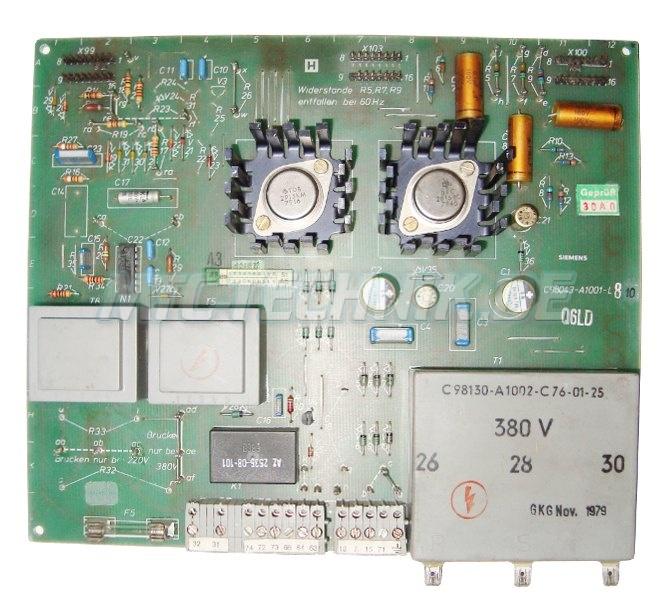 Siemens Karte C98043-a1001-l810 Transformator C98130-a1002-c76-01-25