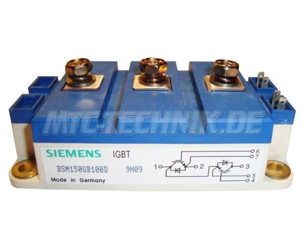 1 Siemens Igbt Module Bsm150gb100d 1000v 150a
