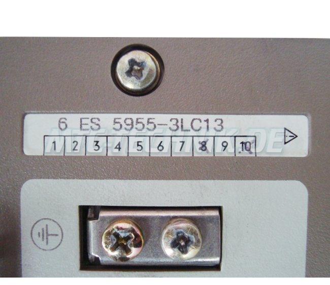 3 Typenschild 6es5955-3lc13 Siemens