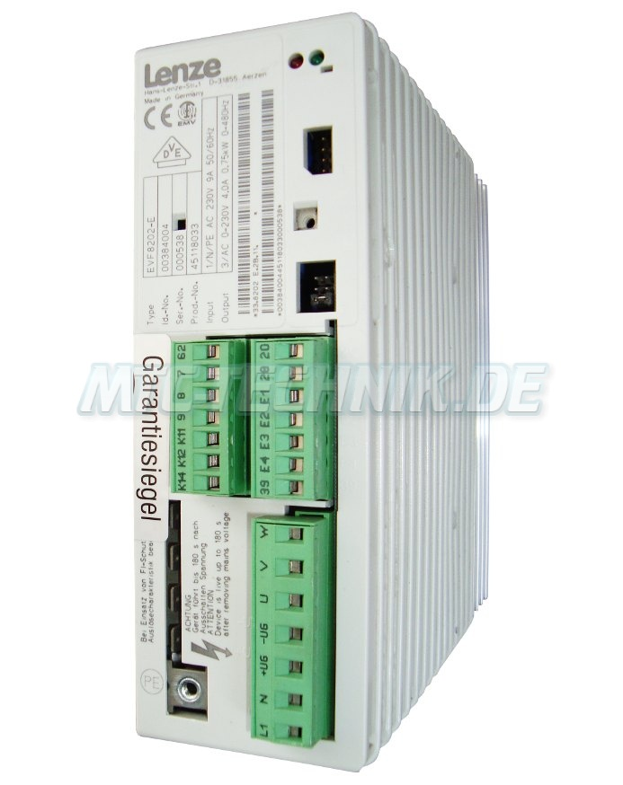 1 Lenze Frequenzumrichter Evf8202-e Shop