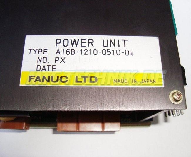 4 Typeschild Fanuc A16b-1210-0510-01