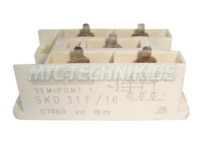 Semikron Dioden Module Skd31f-16