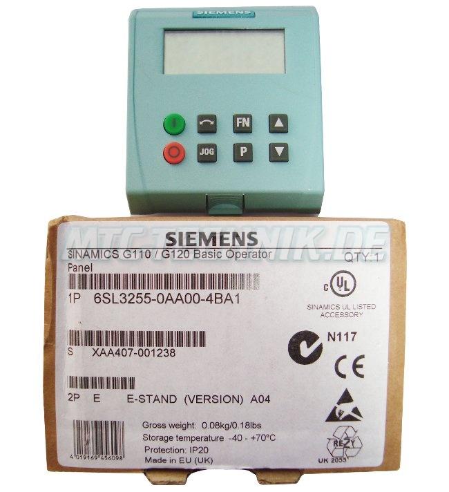Shop Siemens 6sl3255-0aa00-4ba1 Sinamics Bedienpanel