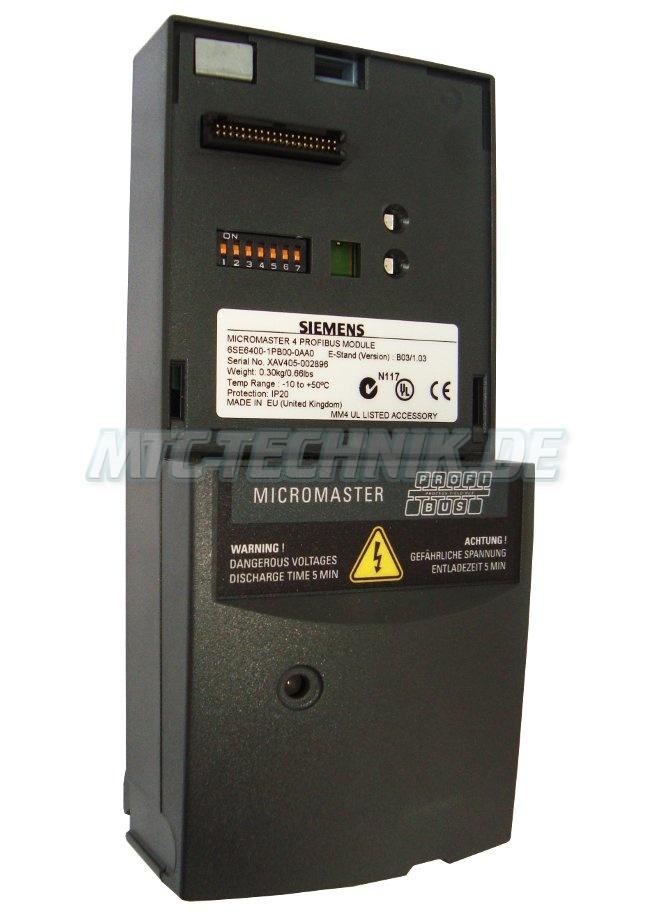2 Shop Micromaster 6se6400-1pb00-0aa0 Profibus Module