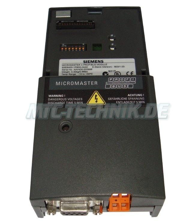 3 Micromaster Steckbares Profibus 6se6400-1pb00-0aa0