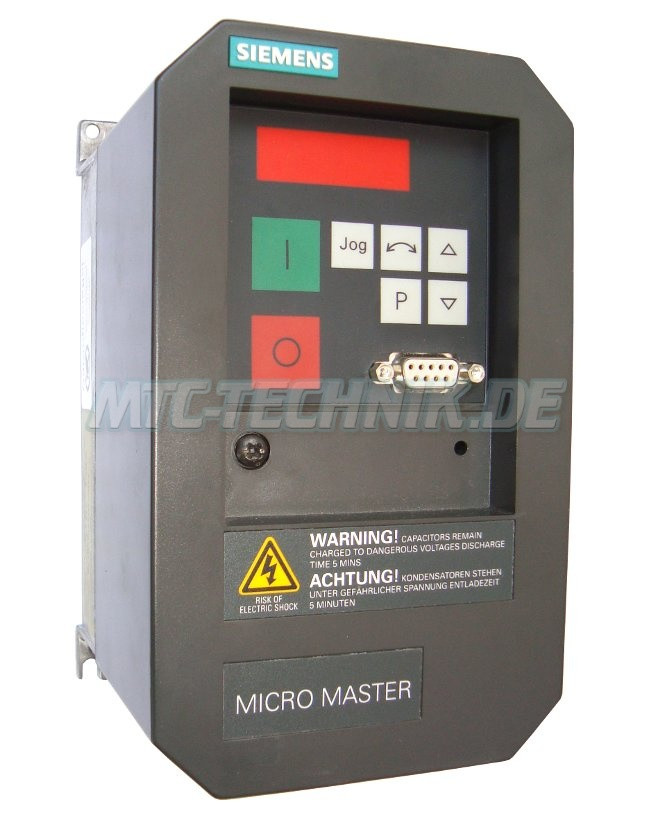 1 Siemens Shop Micromaster 6se3112-1ba40 Frequenzumrichter