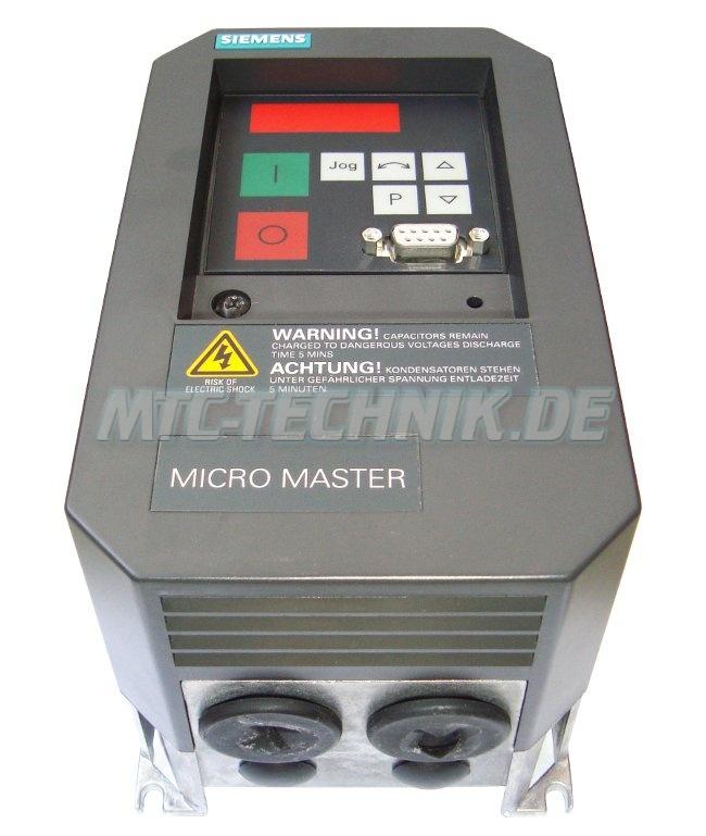 2 Austausch 6se3112-1ba40 Siemens Micro-master