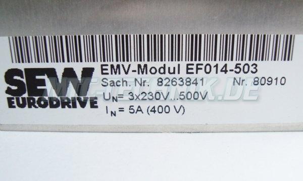 2 Typenschild Ef014-503 Emv-modul Sach-nr. 8263841
