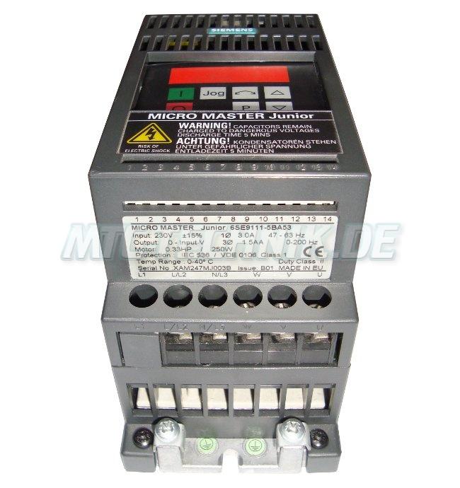 frequenzumformer 6se9111 5ba53 siemens micromaster junior 230v online shop 6se9111 5ba53. Black Bedroom Furniture Sets. Home Design Ideas