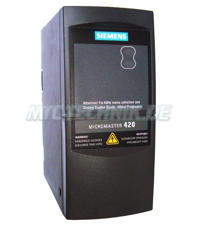 1 Siemens Austausch 6se6420-2ab13-7aa0 Frequenzumrichter