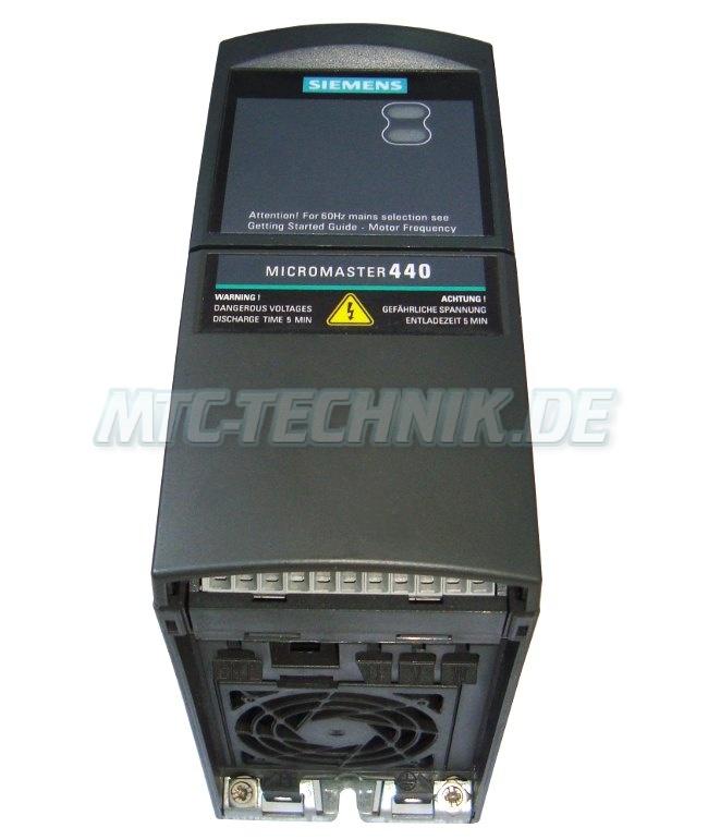 2 Austausch Siemens 6se6440-2ud17-5aa1 Frequenzumrichter