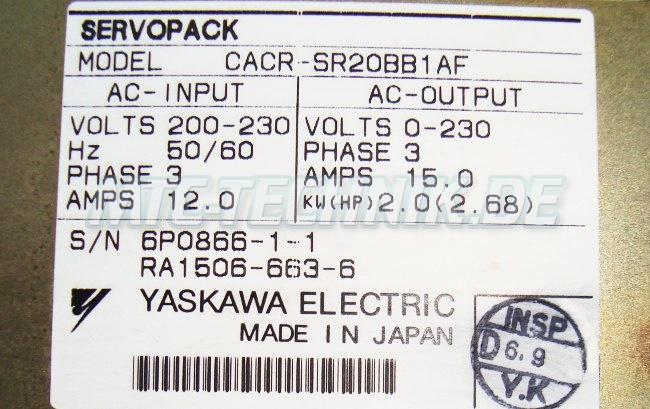 5 Exchange Servopack Cacr-sr20bb1bf