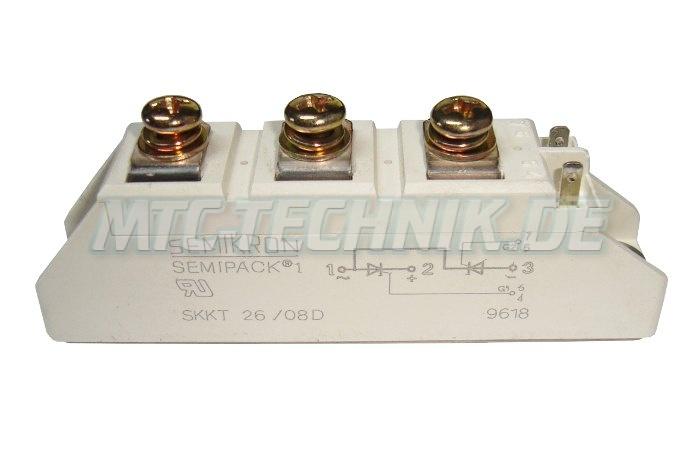 Semikron Thyristor Module Skkt26-08d