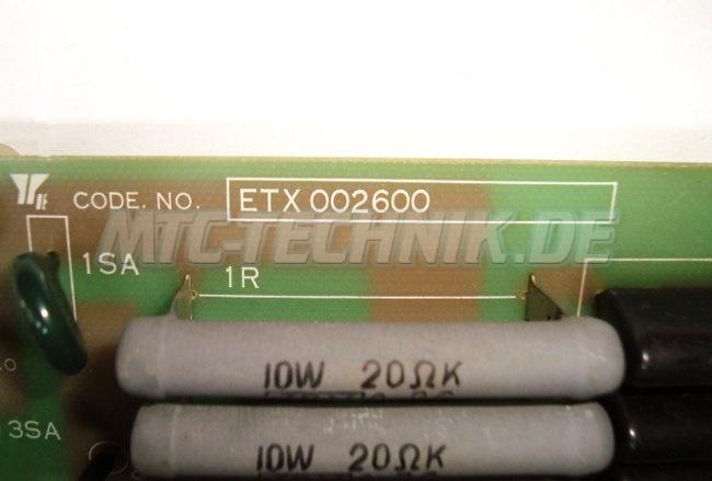 Typenschild Etx002600