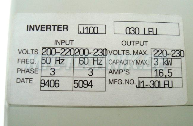 3 Typenschild J100-030lfu