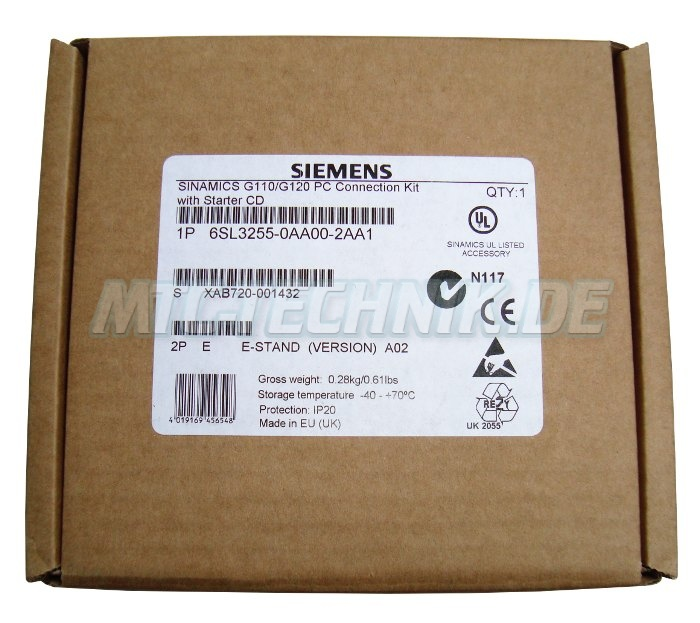 1 Siemens Connection Kit 6sl3255-0aa00-2aa1 Shop