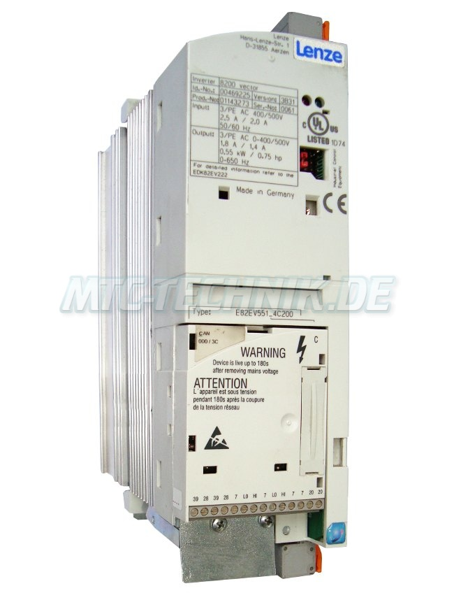 1 Lenze Frequenzumrichter E82ev551 4c200 Shop