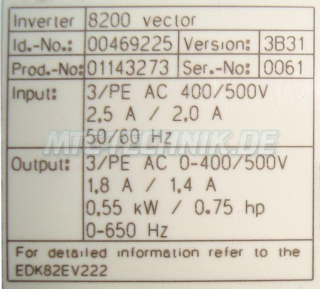 3 Typenschild E82ev551 4c200