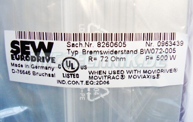 Sew Bremswiderstand Bw072-005 Shop
