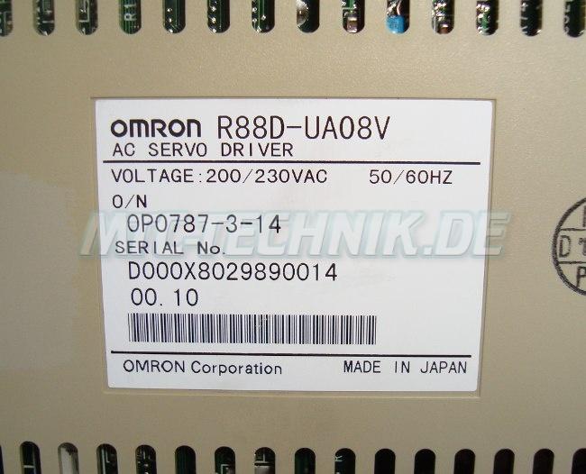 4 Omron Bestellnummer R88d-ua08v
