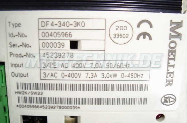 4 Moeller Bestellnummer Df4-340-3k0