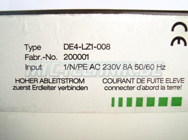 2 Typenschild De4-lz1-008