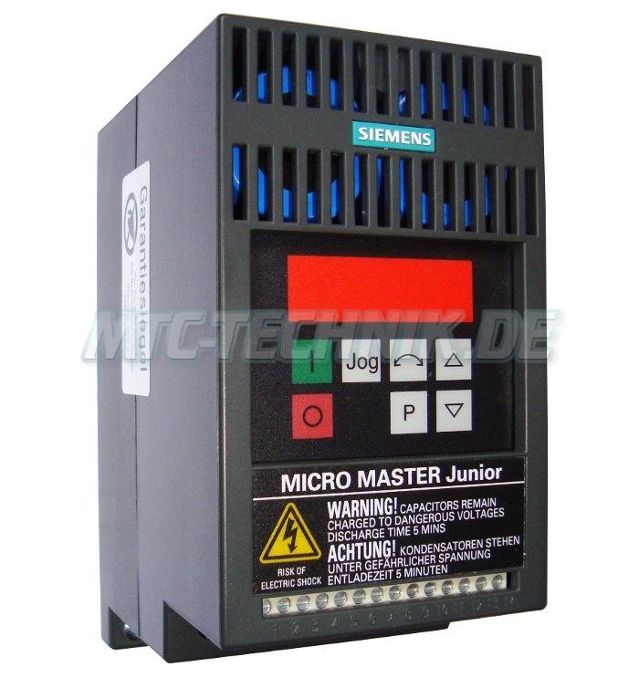 1 Siemens Austausch 6se9113-7ja13 Micromaster Junior