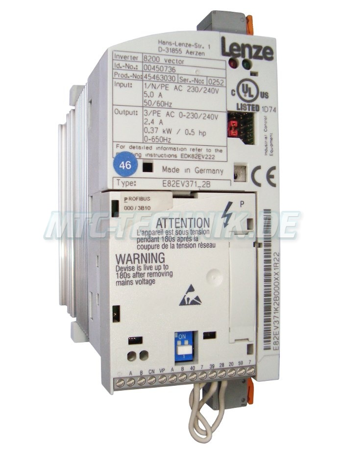 1 Lenze Online Shop E82ev371 2b Vector-8200