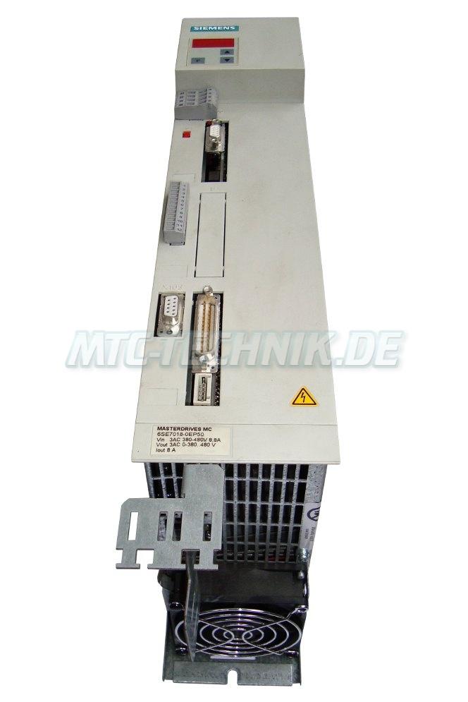 2 Austausch Siemens Frequenzumrichter 6se7018-0ep50