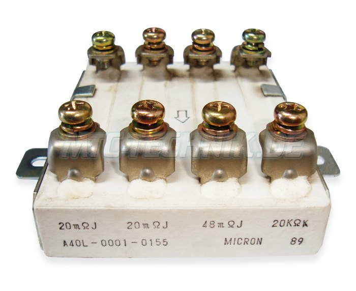 Fanuc A40l-0001-0155 Micron Resistor Block