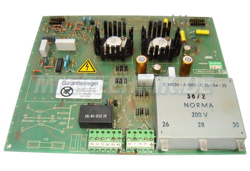 1 Siemens Simoreg C98043-a1001-l5-09 Netzteilkarte Shop