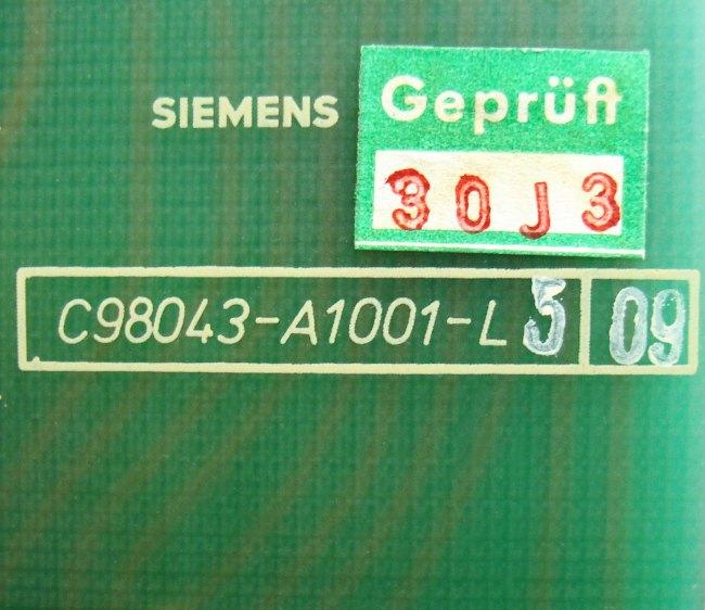 4 Typenschild C98043-a1001-l5-09