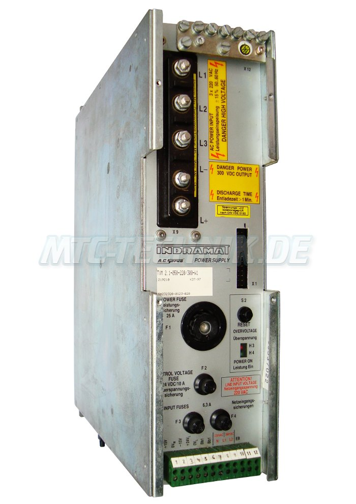 1 Indramat Power Supply Tvm2.1-050-220-300-w1 Online-shop