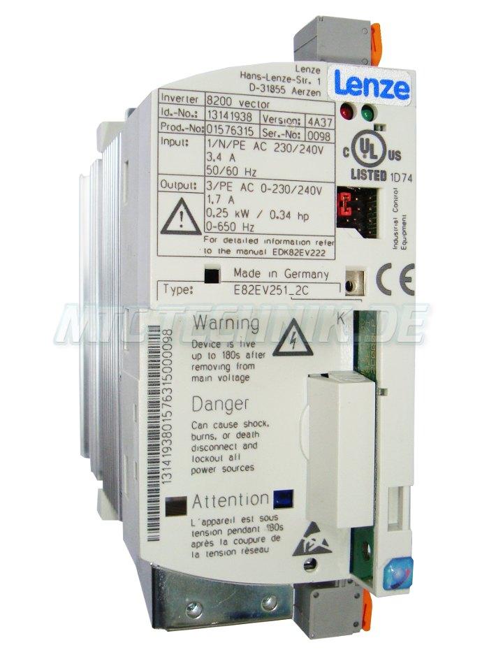 1 Lenze Shop E82ev251 2c Frequenzumrichter Online