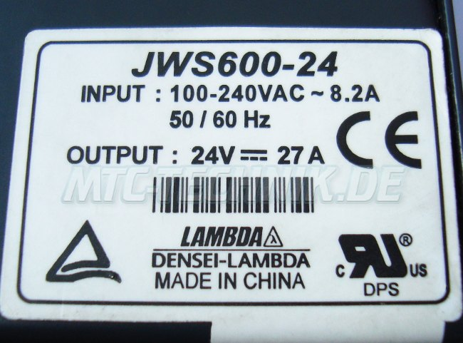 2 Typenschild Jws600-24