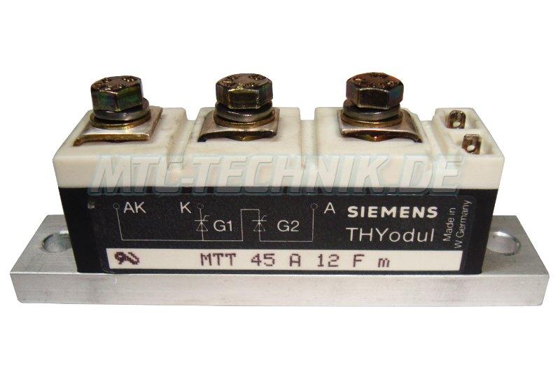 Siemens Thyristor Module MTT45A12FM