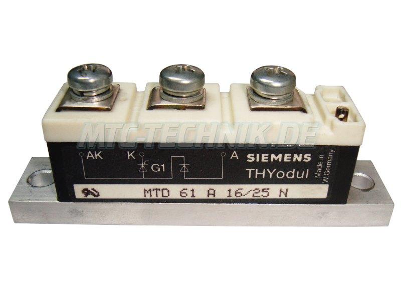 Siemens Mtd61a16-25n Thyristor Modul