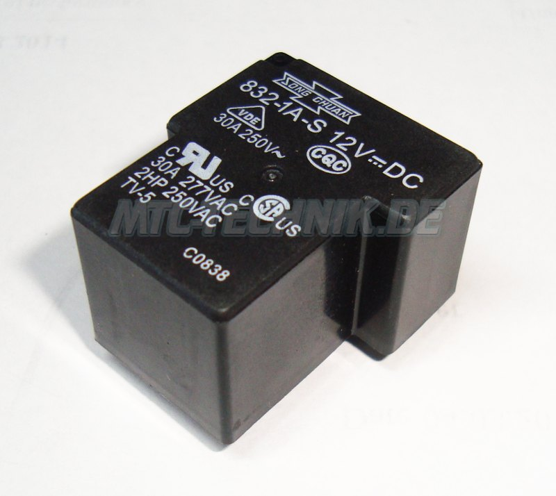 Song Chuan 832-1a-s-12vdc Relay Shop