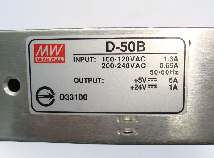 3 Typenschild D-50b