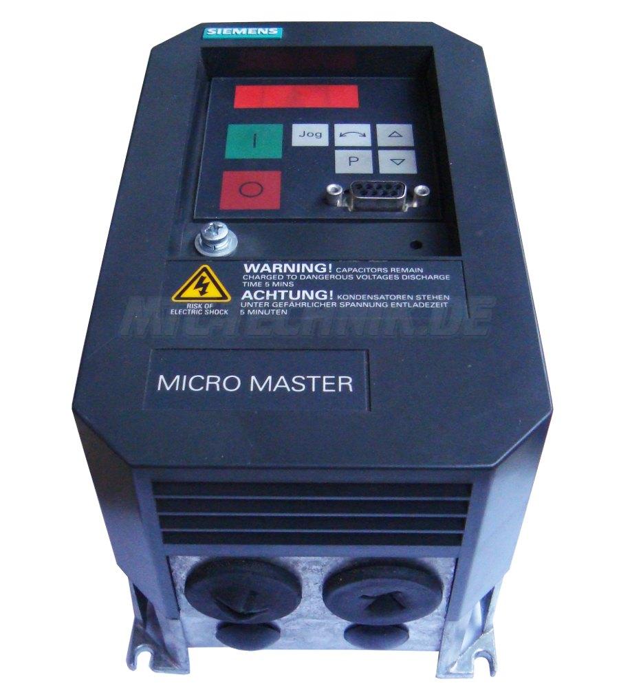 2 Austausch Micromaster 6se3112-8ca40 Siemens