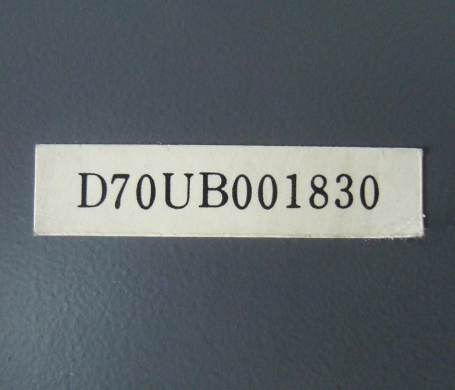 3 Typenschild D70ub001830
