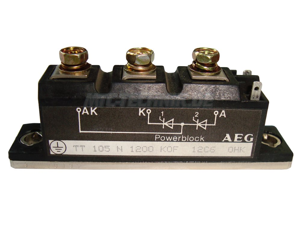1 Aeg Thyristor Tt105n1200kof Powerblock