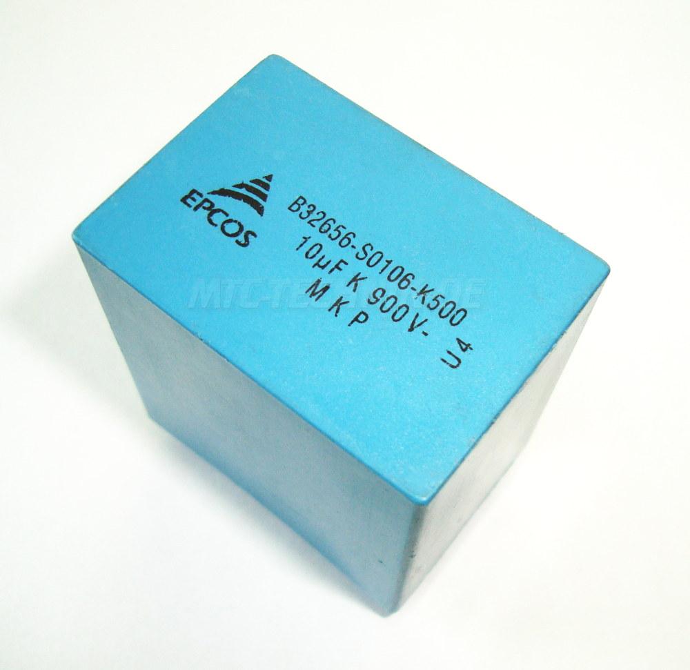 1 Epcos B32656-s0106-k500 Kondensator 10uf 900v