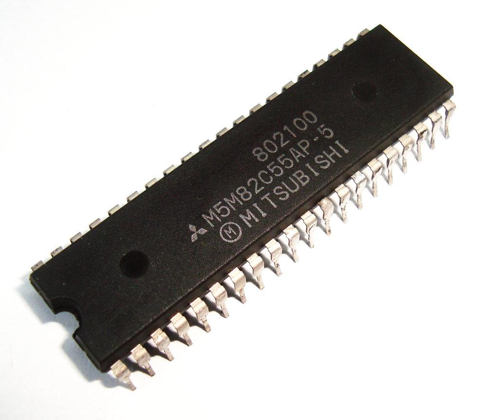 1 Mitsubishi M5m82c55ap-5 Dip 40
